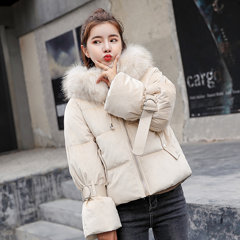 2018 winter new coat   parkas   Women velvet thicke hooded clothing women's short   parkas   fashion slim Warm cotton jacket woman