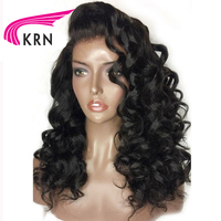 KRN 180 Density Curly 360 Lace Frontal Wigs 10 22 Inch Remy Hair Pre Plucked Brazilian Human Hair 360 Lace Wigs Bleached Knots