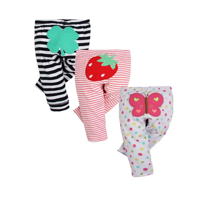 3PCS/LOT 2019 New Fashion Baby Pants 100% Cotton Spring Autumn Newborn Baby Leggings Infant Baby Boy Girl Clothing 6-24 Month(China)
