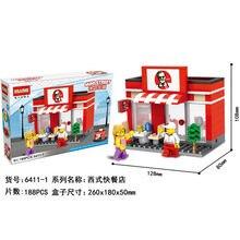 HSANHE Burger Shop blocks ego nero legoe star wars duplo lepin brick minifigures ninjago guns duplo farm castle super heroes