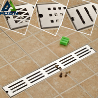 Modern Stainless Steel Bathroom Linear Shower Drain Floor Drain Wire Strainer 70cm Chrome Cover Waste Drainer