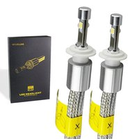 Powerful USA Cree XHP 70 chip Car LED Headlight H4 Hi Lo 55W XHP 70 chips H4 High Low Beam Headlights Bulb H7 H11 9005 9006 9012