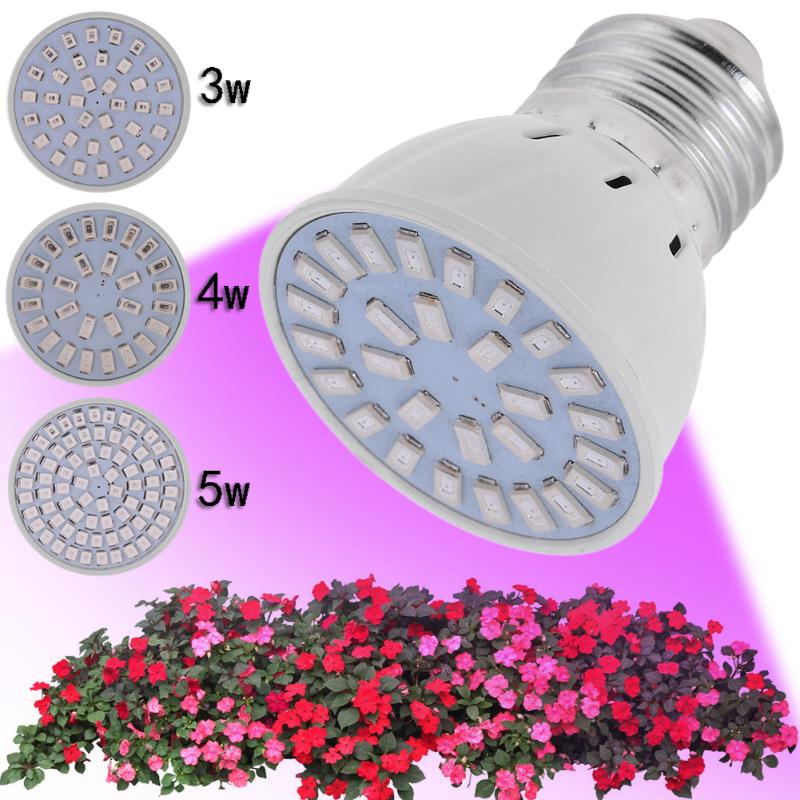 LED Grow Light E27 36LED 54LED 72LED Mini Plant Growth Lamp For Flowering Plant Leaf Growing And Hydroponics System