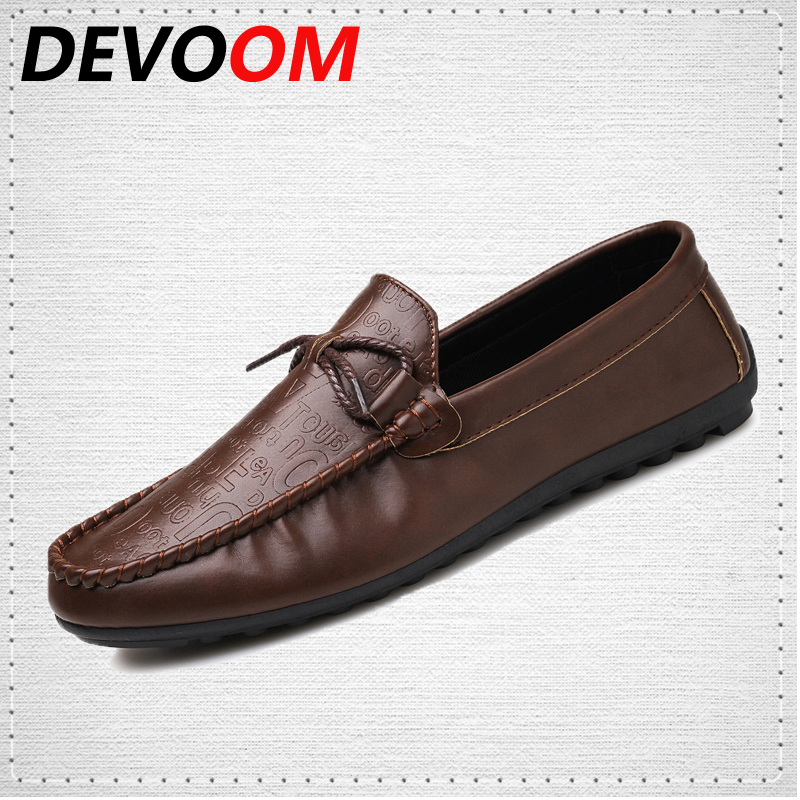 DEVOOM Brand Mens Slip-on Split Leather Shoes Soft Moccasins Men Loafers Gommino Driving Shoe 2017 Fashion Breathable Boat shoes men s slip on loafers casual crocodile leather loafers breathable moccasins shoes boat shoes driving shoes flat shoes for men