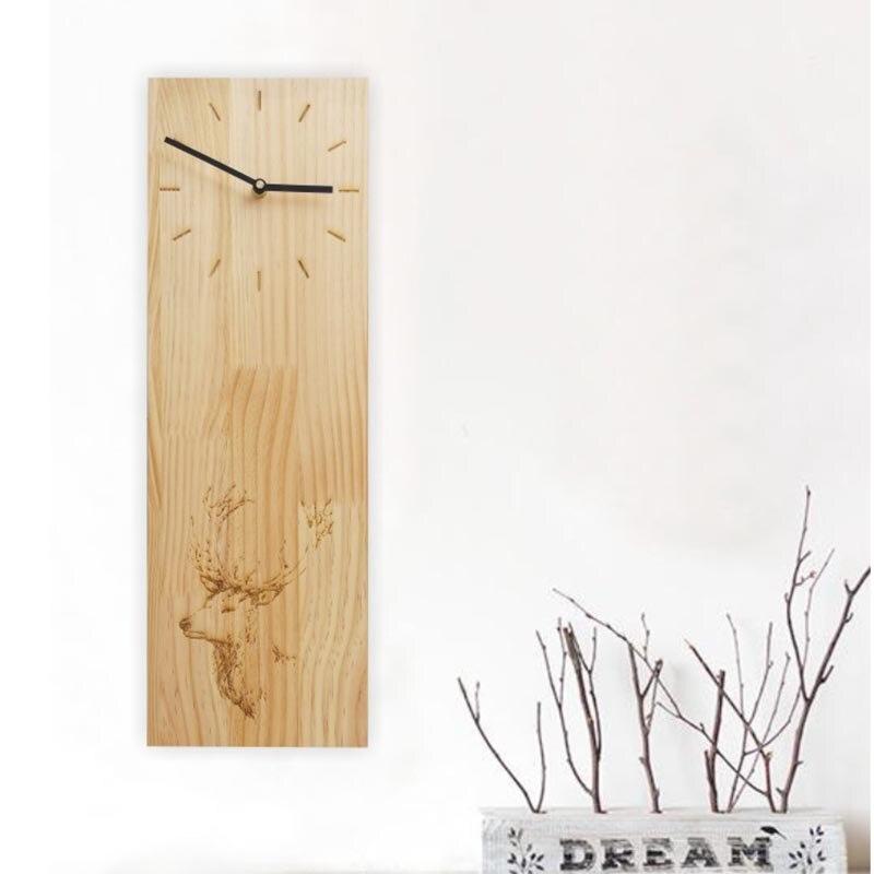 Японском стиле из натурального дерева дуб прямоугольник часы домашнего Чай комнаты Украшения Скульптура Книги по искусству узор иглы qu Кни