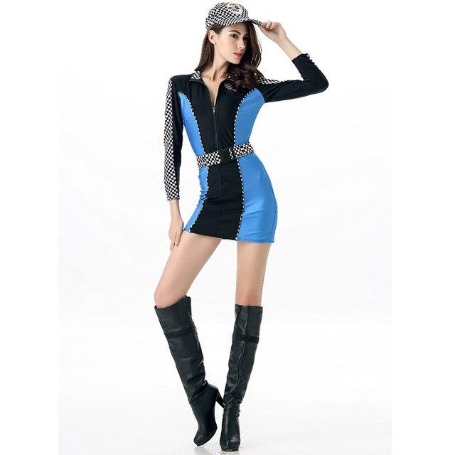 Online Shop Sexy Racer Costume Car Racing Uniforms Plus Size Fancy