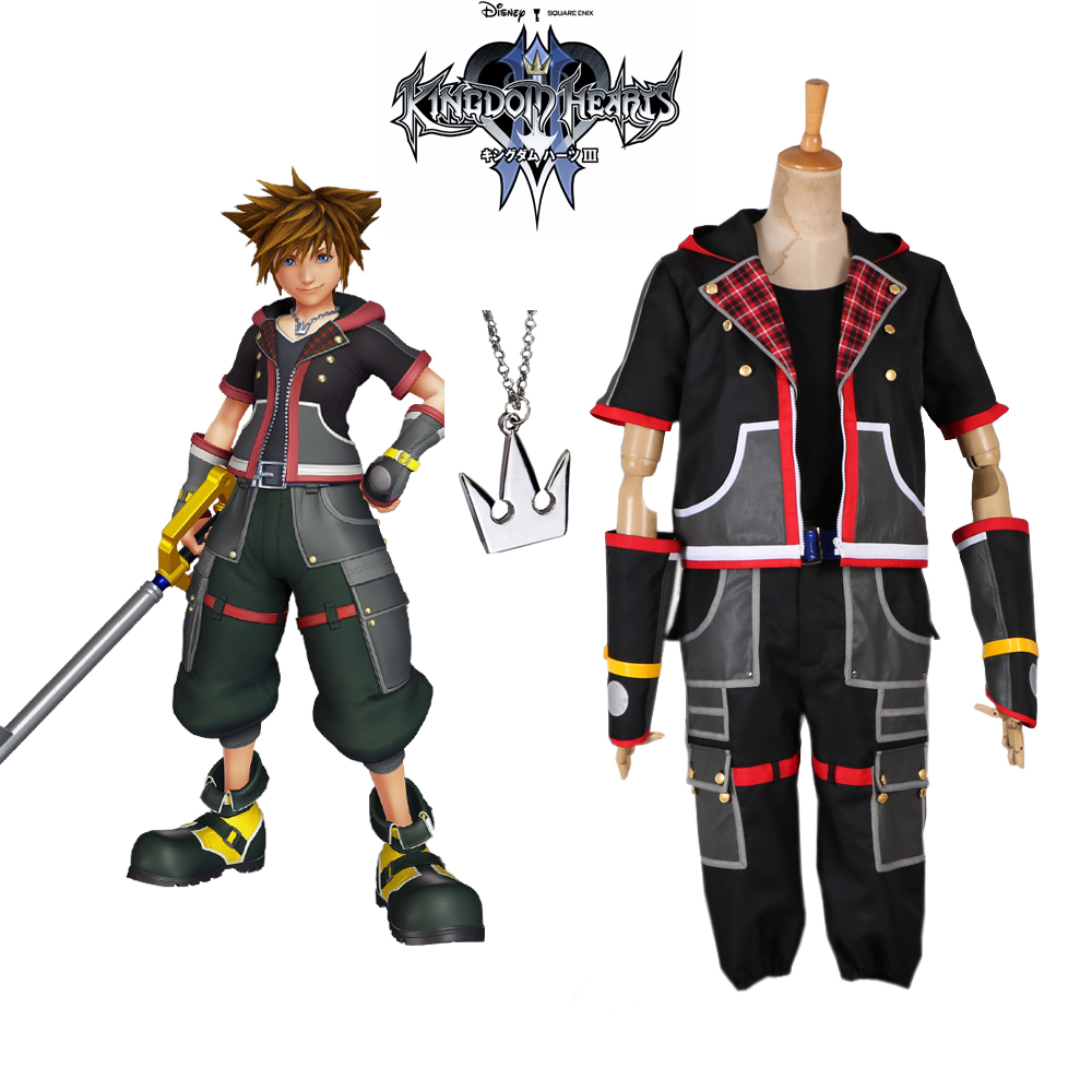 Kingdom Hearts 3 III Sora Cosplay Costume Custom Made