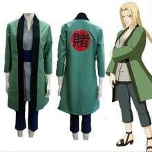 ¡Oferta! disfraz de Anime, conjunto de traje de NARUTO, conjunto completo Tsunade, Cosplay, fiesta de Halloween Disfraces de, regalo