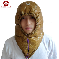 AEGISMAX Sleeping Bag Hat 95% White Goose Down Mummy Camping Outdoor Urltra Light Goose Dow Hat for Envelope Sleeping Bag