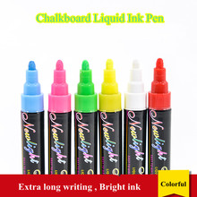 цена Rewritable POP Liquid Ink Pen for Glass Windows Blackboard Whiteboard Chalkboard Marker Pen Fluorescent Board Pen онлайн в 2017 году