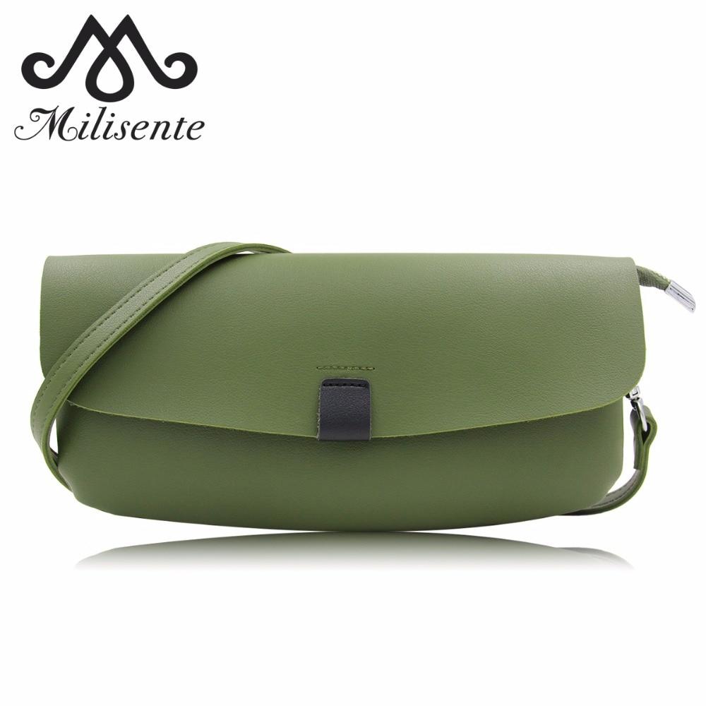 Milisente Women Green Clutch Ladies Solid Crossbody Bags Female Shoulder Grey Clutch Bag