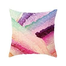Fuwatacchi Gradient Patchwork Pillowcase Wave Endless Dot Arrow Geometric Cushion Cover for Home Sofa Chair Decorative Pillow