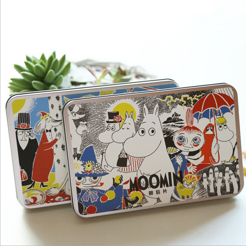 Moomin MUUMI Care Cartoon Collection Post Card Writer Paper Card 30 Pieces Cartoon Card Cute Hippo Little My(China)