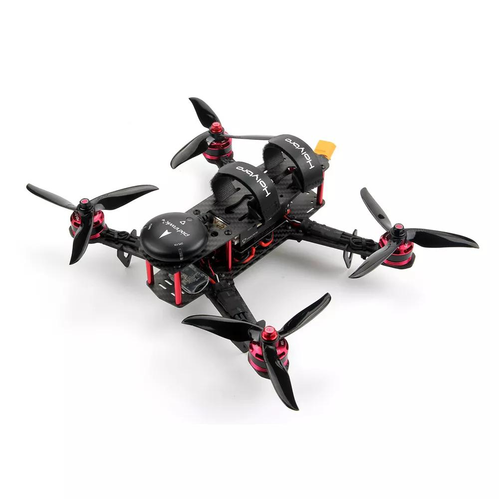4 Mini QAV250 Kit de base RC quadrirotor Drone RC avec moteur Pixhawk 4 GPS DR2205 KV2300