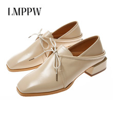 Spring Autumn Women Oxfords Flats Platform Shoes Fashion Lace Up Ladies Casual Leather Shoes Brand Women Brogue Shoes Black  2A instantarts women s flats casual leather shoes for women breathable ladies lace up sunflower oxfords butterfly floral flats shoe