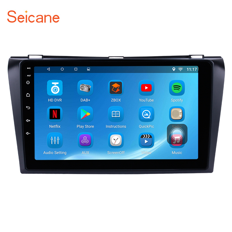 Seicane 9 Quad Core 1024*600 Multi-Système tactile Android 6.0 Bluetooth GPS De Voiture Radio pour Mazda 3 2004 2005 2006 2007 2008 2009