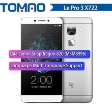 """기존 5.5 """"FHD LeTV LeEco Le Pro 3 엘리트 X722 스마트 폰 4GB / 32GB 쿼드 코어 안드로이드 6.0 금어초 820 4G LTE 16MP 4070mAh"""