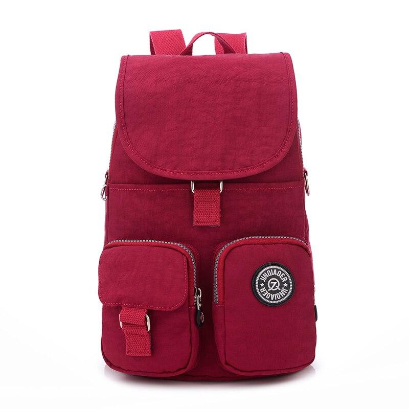 Women Backpack Waterproof Nylon School Bags For Teenagers Girls Students Travel Book Satchel Shoulder School Rucksack Mochilas