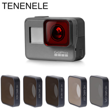 TENENELE Gitmek Pro Spor Eylem Kamera Filtre Kırmızı/Kırmızı/Sarı Filtreleri GoPro Hero 7 Siyah ND 4 8 16 UV CPL filtre Aksesuarları