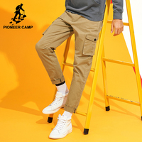 Pioneer Camp New Cargo Pants Men Brand Clothing Solid Multi Pocket Casual Trousers Men Quality Stretch