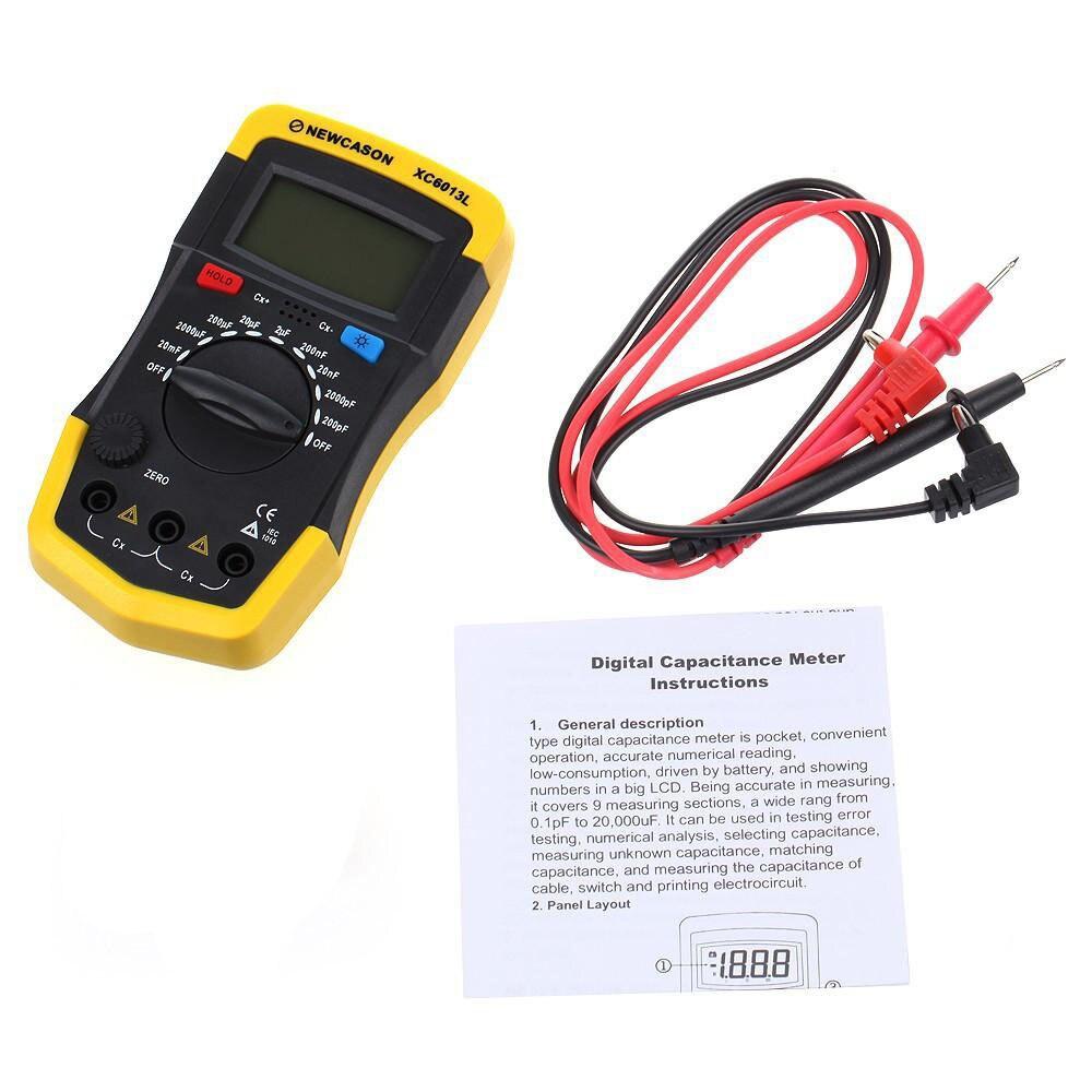 Fonction Multimètres XC6013L Digtital Indicateur LCD Capacité Condensateur Tester mF uF Circuit