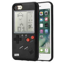 For Retro GB Gameboy Tetris Phone Cases for iPhone 6 6S 7 8 Plus Soft TPU Can Play Blokus Game Console Cover Iphone X Capa
