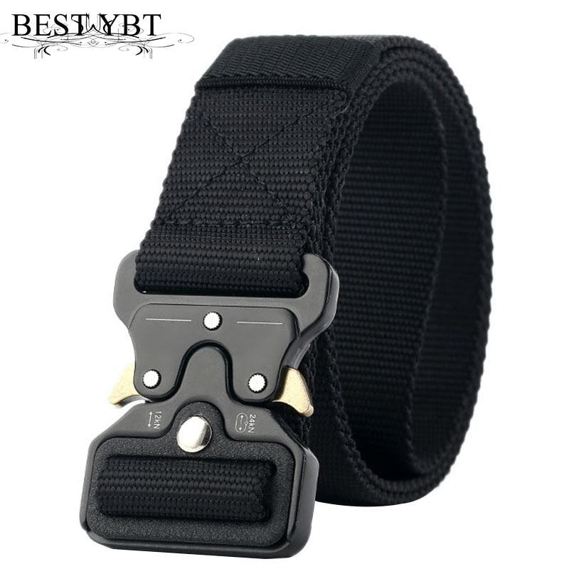 Best YBT Unisex Nylon belt Metal insert buckle military nylon Training belt Army tactical belts for Men Best quality male strap