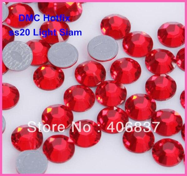 Free Shipping! 1440pcs/Lot, Ss20 (4.8-5.0mm) High Quality DMC Light Siam On Rhinestones / Hot Fix Rhinestones