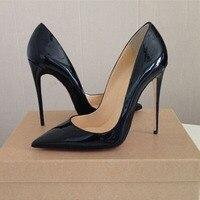 En Kaliteli Sivri Burun So Kate Yüksek Topuklar Ayakkabı 2017 Kadın Pompalar Seksi Kadın Ayakkabı Chaussure Escarpins Semelle Roug 12 CM/10 CM