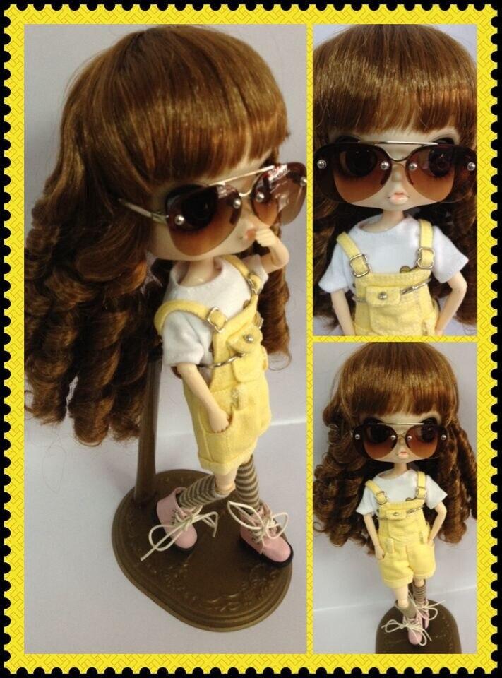 d0c989c724b7b Boneca óculos óculos (adequado para pullip) em Bonecas de Brinquedos no  AliExpress.com   Alibaba Group