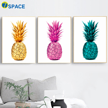 Golden Pink Pineapple Wall Art Canvas Painting Nordic Posters And Prints Decoration Pictures For Living Room Pop Home Decor