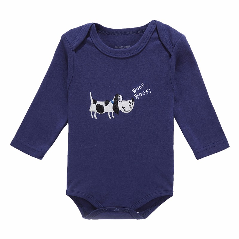 Mother Nest 2016 Fashion 3Pcslot Baby Romper Girl Boy Next Baby Clothing DOG Printed Baby Clothes Newborn Cotton Baby Rompers (2)