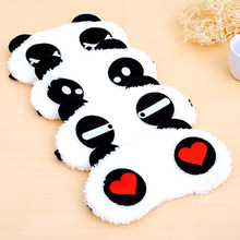 New 1x Panda Face Eye Travel Sleeping Mask Blindfold Christmas Gift White+Black(China)