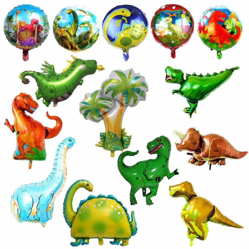 Treinar O Seu Dragão Dinossauro Gigante Balão de alumínio Balões Crianças Festa de Aniversário do Dinossauro Dos Meninos Animal Decorações Mundo Jurássico