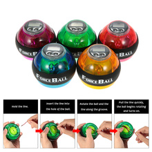 Gyroscope Ball Force Ball Gyro Power Wrist Ball Arm Exerciser Strengthener LED with Speed Meter Counter 12000 RPMS 5 Colors(China)