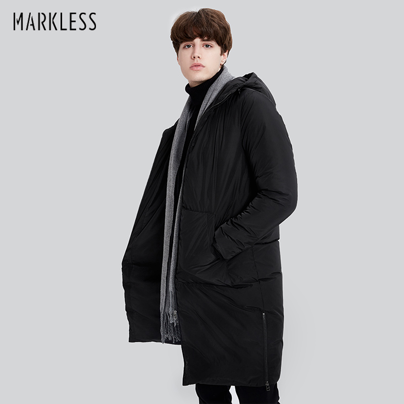 Markless Brand 2017 Winter Warm Long Thick Down Jacket Men Casual Hooded Parkas Male Winter Outerwear Warm Down Coats YRA7307M