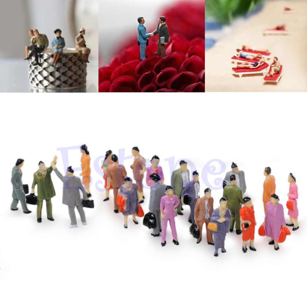 100 шт./лот 1:100 макет Здания Модель человек поезд хо масштаб окрашенная фигура модель пассажира здание KitsRamadan фестиваль подарок