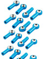 Wholesale 16pcs Aluminum M3 Link Rod End Ball Joint for 1/10 RC Car, Truck, Buggy Crawler