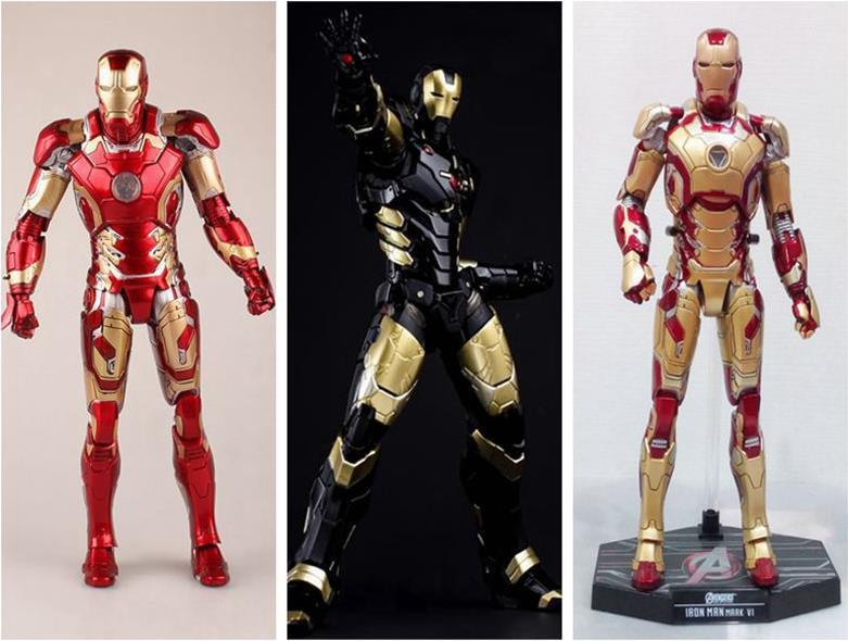 HC Avengers Age of Ultron Iron Man Mark XLII Gloden PVC Action Figures ToysHC Avengers Age of Ultron Iron Man Mark XLII Gloden PVC Action Figures Toys