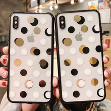 Cyato Lovely Wave Point Clear Phone Case For iPhone XS Max XR X 6 6S 7 8 Plus Cartoon Ploka Dots Pattern Cases for x Capa
