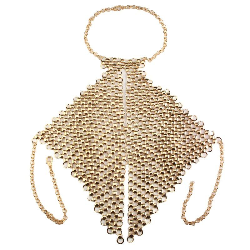 HTB1hWZLKVXXXXcvaXXXq6xXFXXX3 Metal Body Necklace Chain Choker Bralette