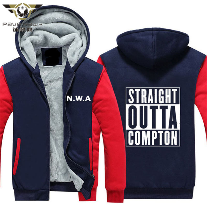 Straight Outta Compton NWA California GOTHIC Eazy E NWA Dr. Dre hip hop Hoodies men Thicken Fleece Coat USA EU size Plus si
