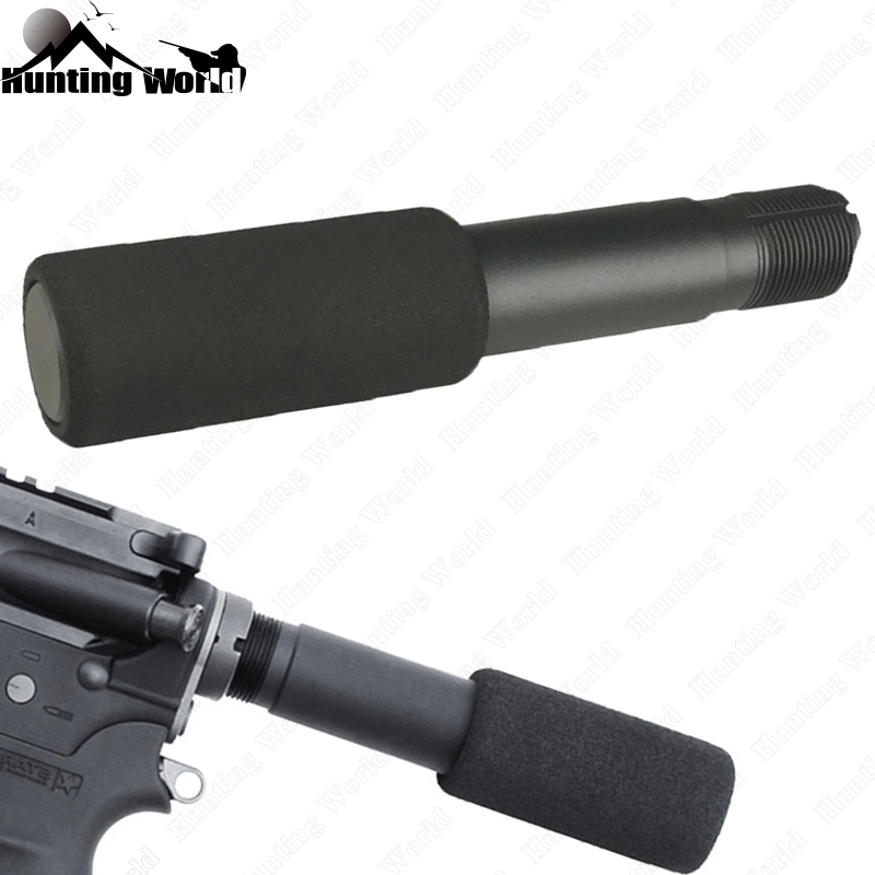 Tactical .223 5.56 Mil AR-15 M16 Pistol Buffer Tube With 3.5 Foam Pad Cover for Airsoft carbine Hunting Rfile Accessory image