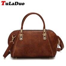 Marke Vintage Frauen Handtasche Pu-leder Tote Bag Zipper fashion hartschalentasche Designer Luxus Niet Weiblichen Umhängetasche Kleine pu
