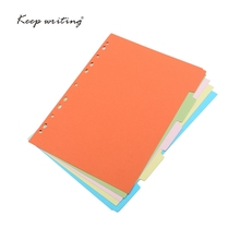 Binder Index Dividers Inner Page Loose Leaf Notebook organizer Index Paper Separator Divider Pages 5 Sheets Matching Filofax