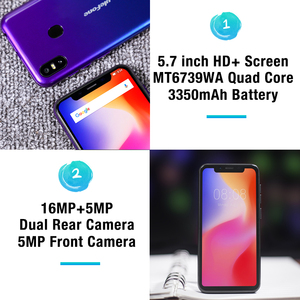 Image 3 - Ulefone S10 Pro Mobile Phone Android 8.1 5.7 inch MT6739WA Quad Core 2GB RAM 16GB ROM 16MP+5MP Rear Dual Camera 4G Smartphone