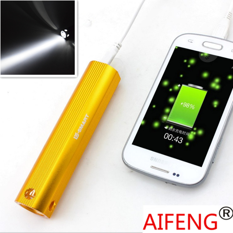 Multi Function Powerbank With Flashlight Q5 Build In