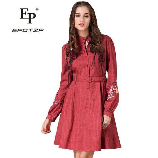 70350d8588b Coton Pour Boho A Efatzp 2018 ligne Col Ceinturé Femmes Pied Manches  Féminine Robe A82067 Red Nouveau De Lin Lanterne ...