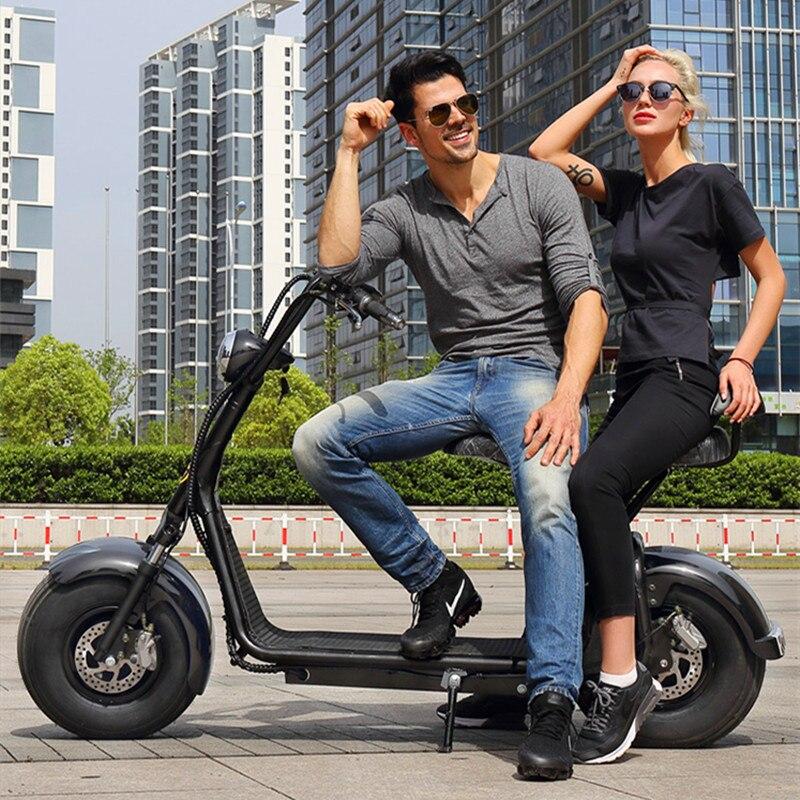 Grande roue scooter électrique ville coco e scooter avec batterie amovible