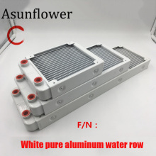 Asunflower Aluminum Computer Radiator Water Cooler Cooling 18 Tube CPU Heatsink Screw Exchange 240MM G1/4